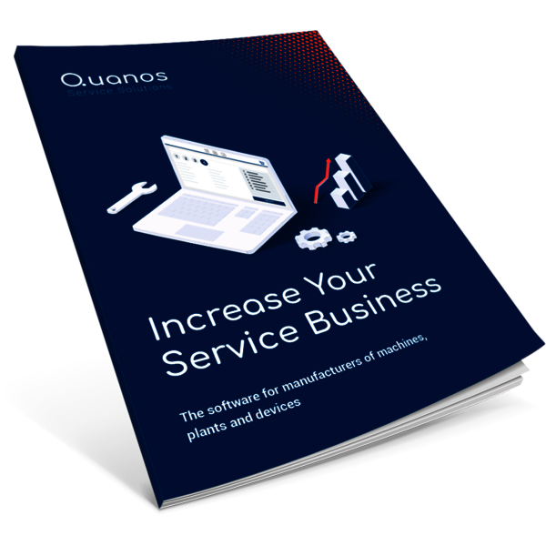 Brochure to increase service business as a manufacturer